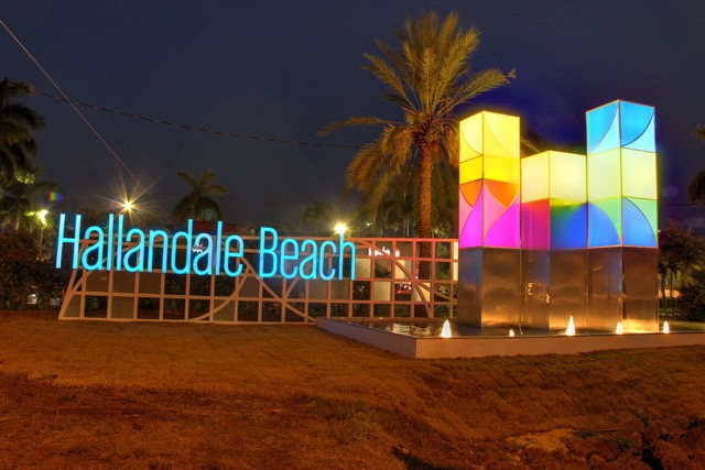 Hallandale Beach sign